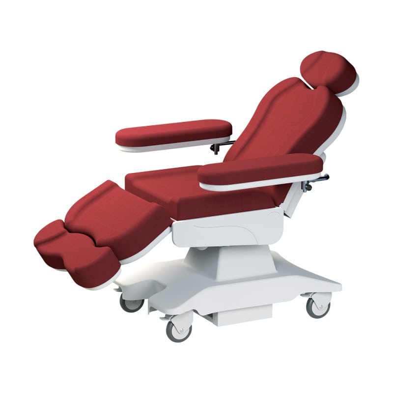 Both the backrest and the leg rest can be adjusted in inclination
