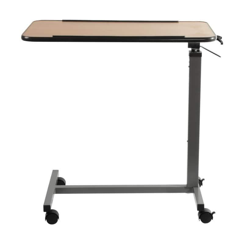 Das Gestell ist so gestaltet, dass die Tischplatte über der Liegefläche platziert werden kann