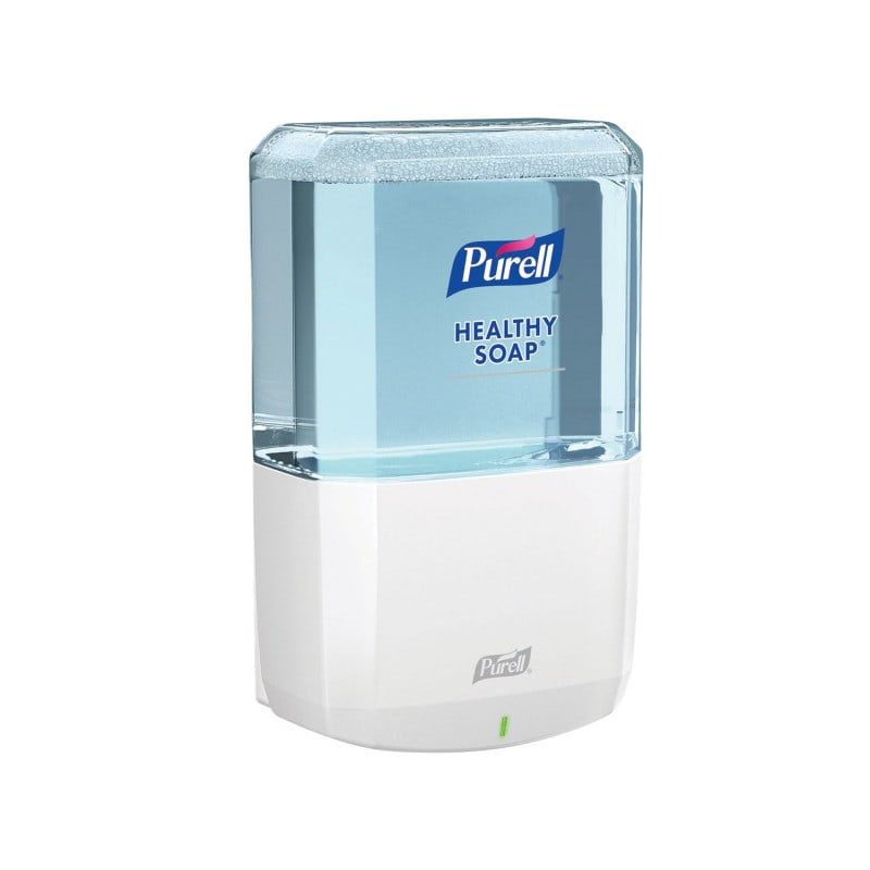 Can be refilled with Purell healthy soap