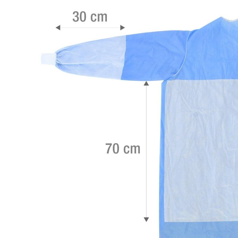 Hoher Schutz durch langen Schnitt und Verstärkungen an Brust/Bauch und Armen