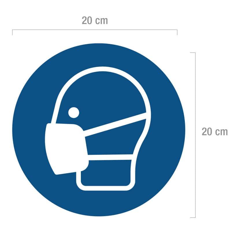 Gebodsbord conform ISO 7010, diameter 20 cm