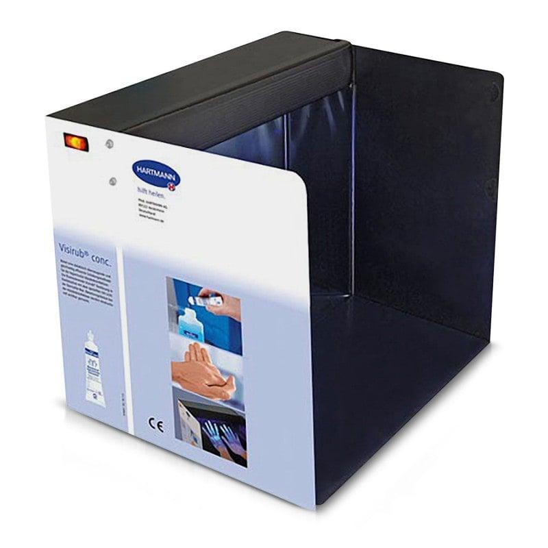 Foldable box with UV black light