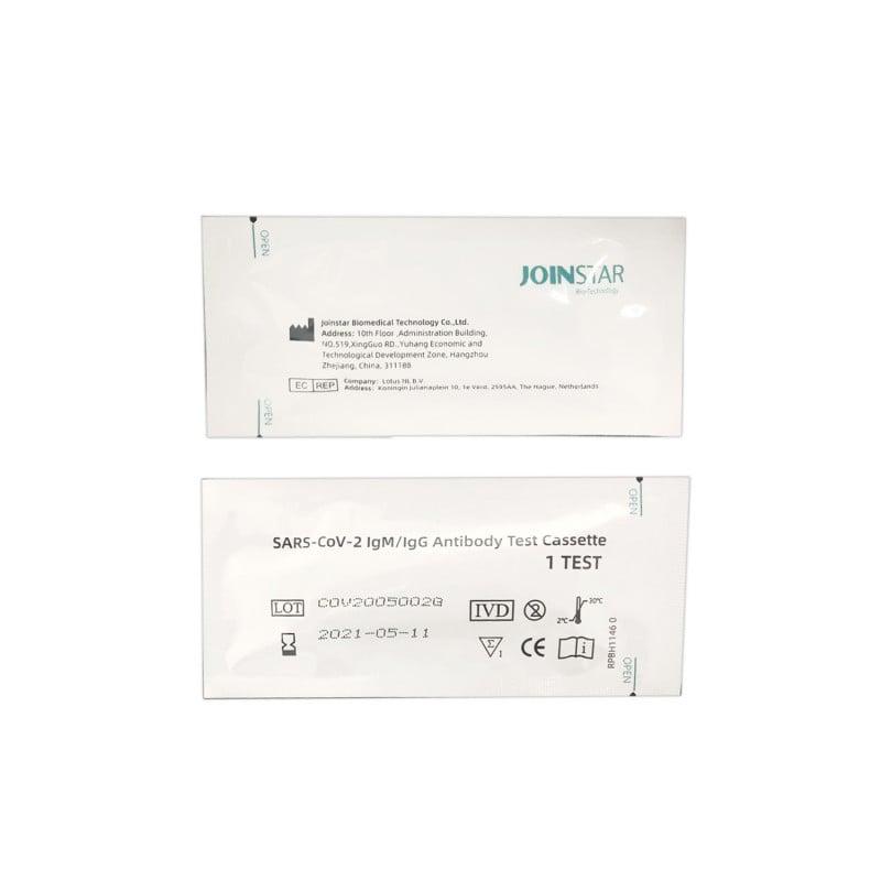 Para la detección simultánea de anticuerpos IgG e IgM en sangre entera, suero o plasma