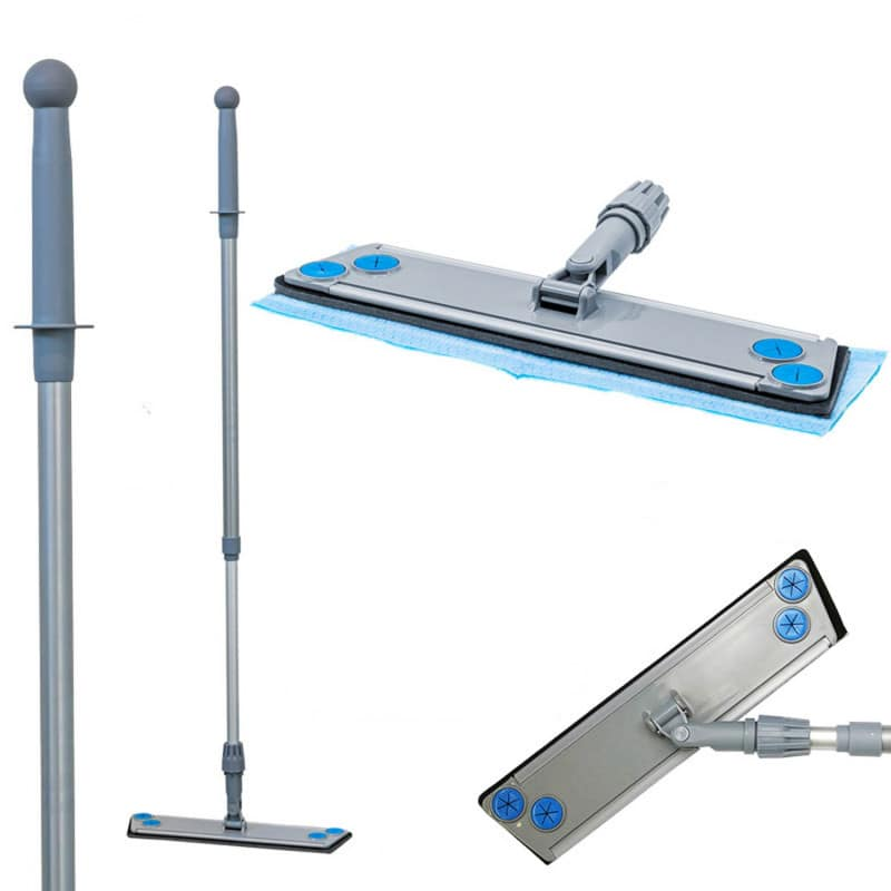 Height adjustable (100 - 160 cm) and with 360° swivel joint