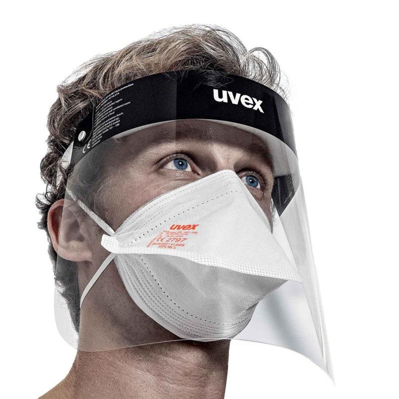 Buona vestibilità e bassa resistenza respiratoria, può essere indossato anche sotto allo schermo protettivo uvex