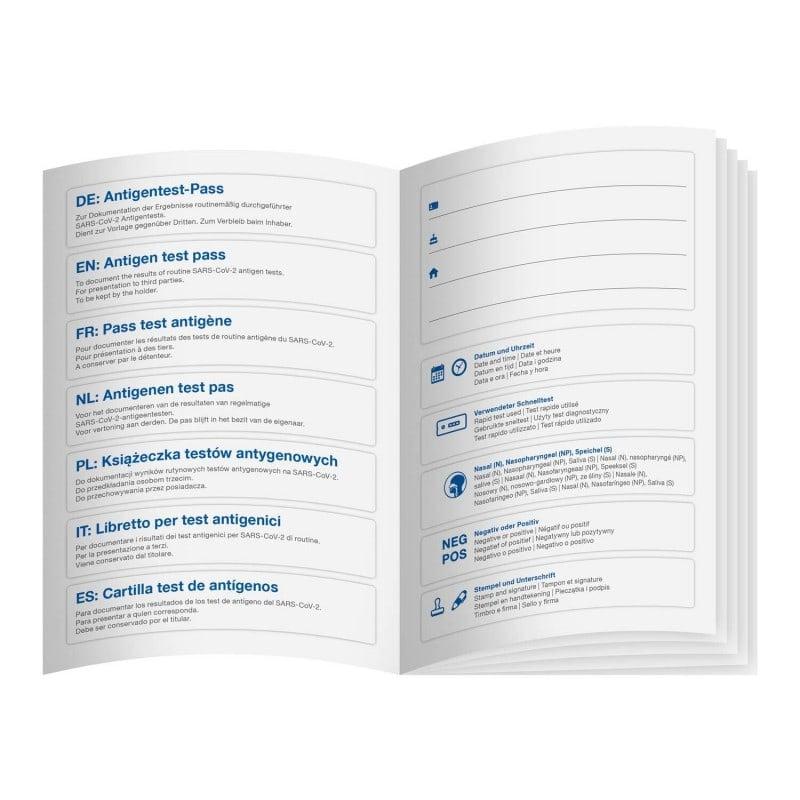 Personalisiertes, mehrsprachiges Test-Buch zur Ausgabe an den Patienten