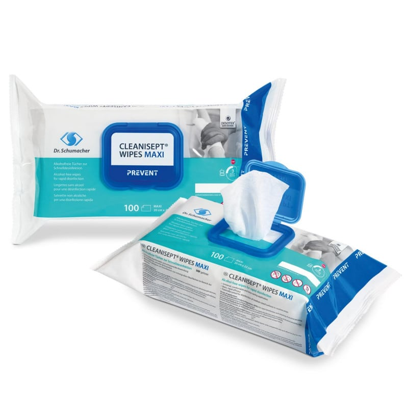 Available in a choice of 10 or 100 wipes