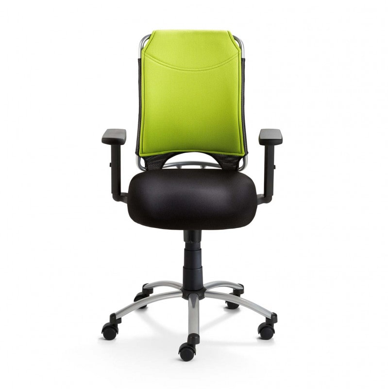 Particularly comfortable thanks to upholstery and synchronous mechanism with individual weight adjustment