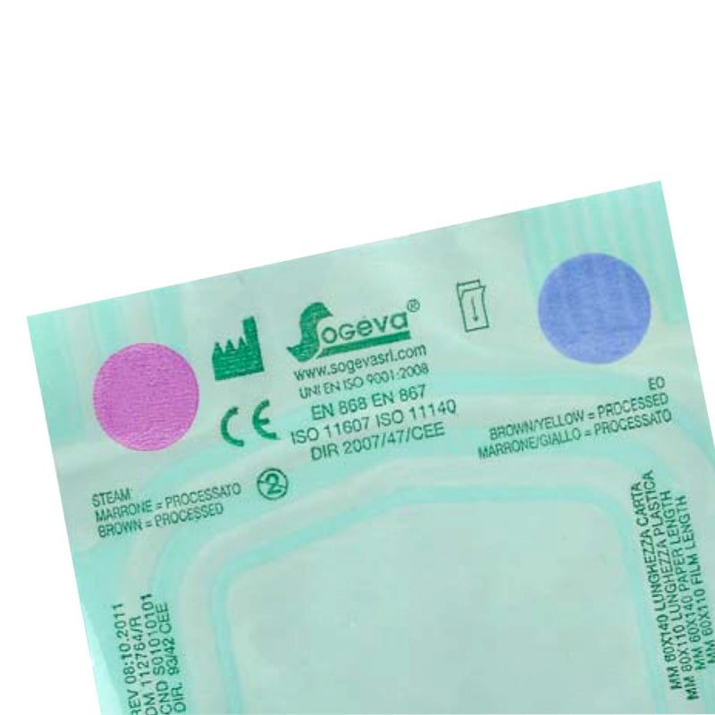 Sterilisation Pouches, Self-adhesive