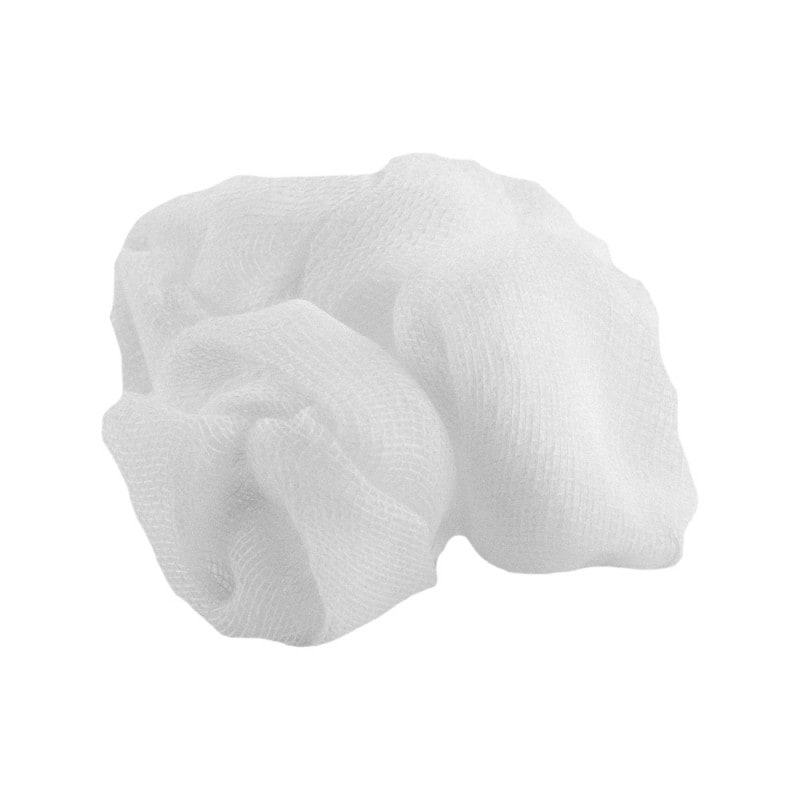 Sterile Pagasling-Tupfer aus einem Mullstück mit innenliegender Schnittkante