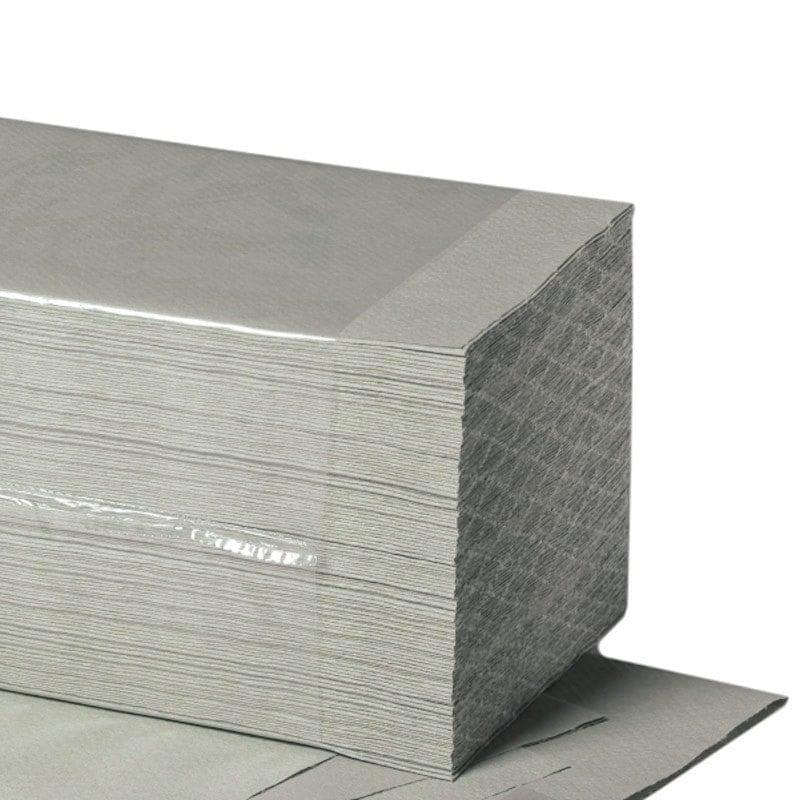 Die Papierhandtücher in Zick-Zack-Faltung