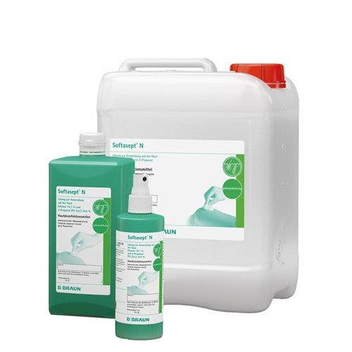 The disinfectant is available in different, practical sizes