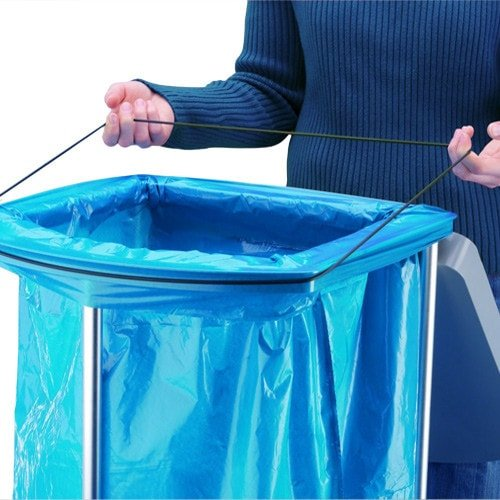 Medical Garbage Bag Holder from Hailo with Wheels that Can be Used for Waste Separation and Recycling
