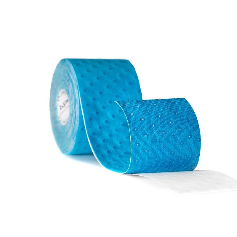 IQ-Tape mit wellenförmig aufgetragenem, hypoallergenem Acrylkleber