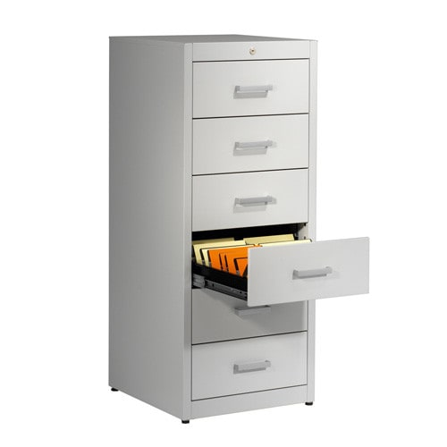 Metallic storage cupboard for cards by Mauser