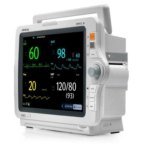 Tragbarer Patientenmonitor mit integriertem Akku und großem Touchscreen-Display