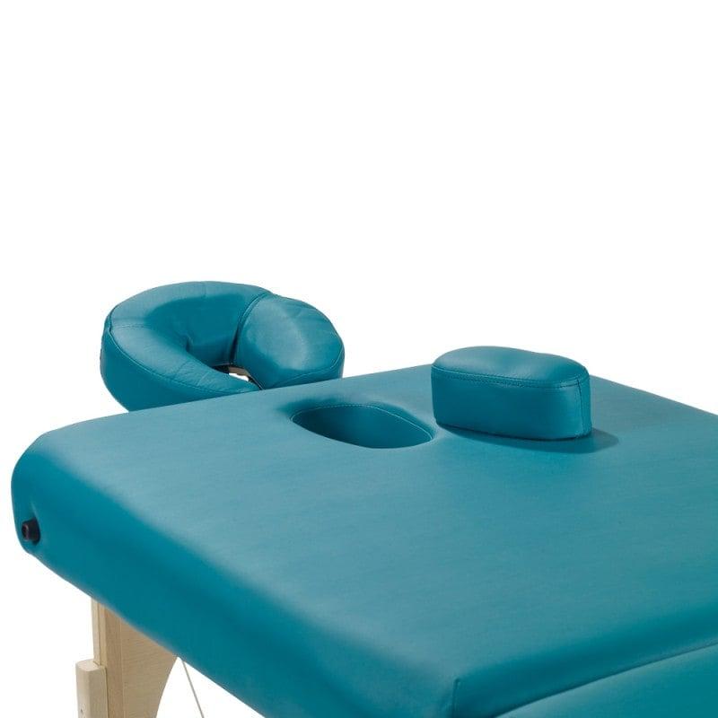 Anatomiczny podgłówek umożliwia przyjęcie wygodnej pozycji leżącej