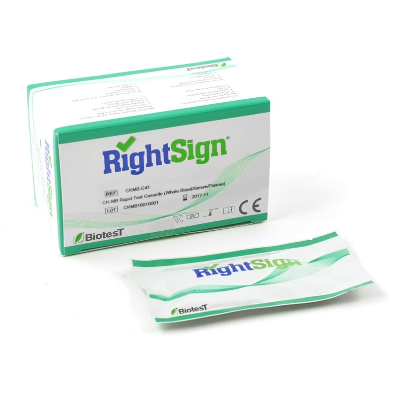 Right Sign test CK-MB