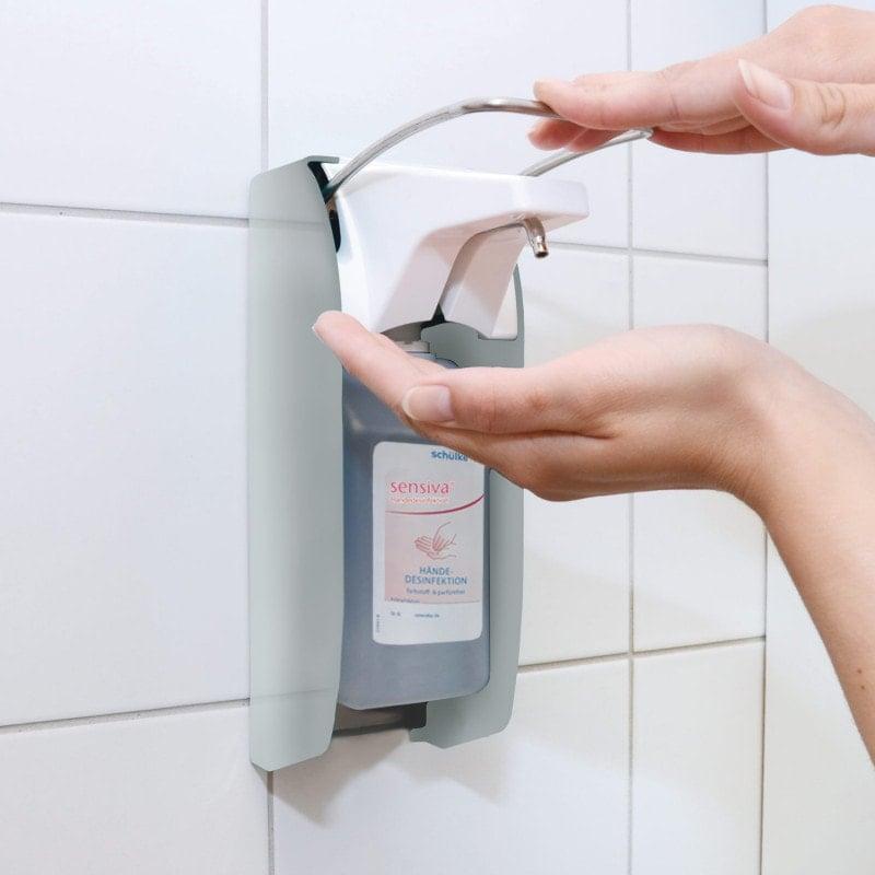 Armhebelspender aus Edelstahl - Dosierung von 0,75 ml bis 1,5 ml je Hub