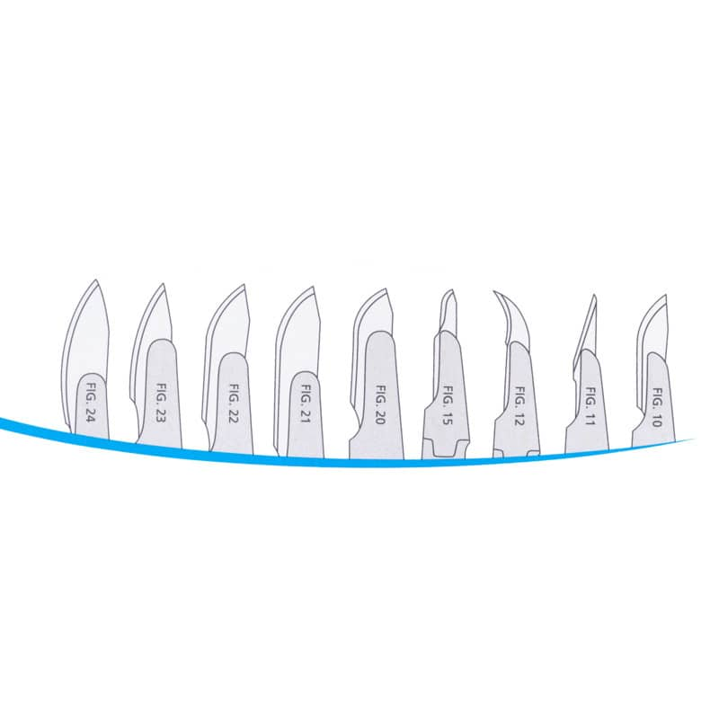Disposable Scalpel Blades for No. 4 Scalpel Handle