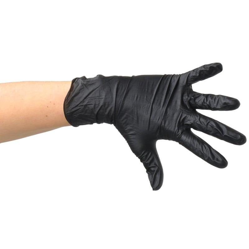 Latexfreier Handschuh mit Rollrand & angerauten Fingerspitzen