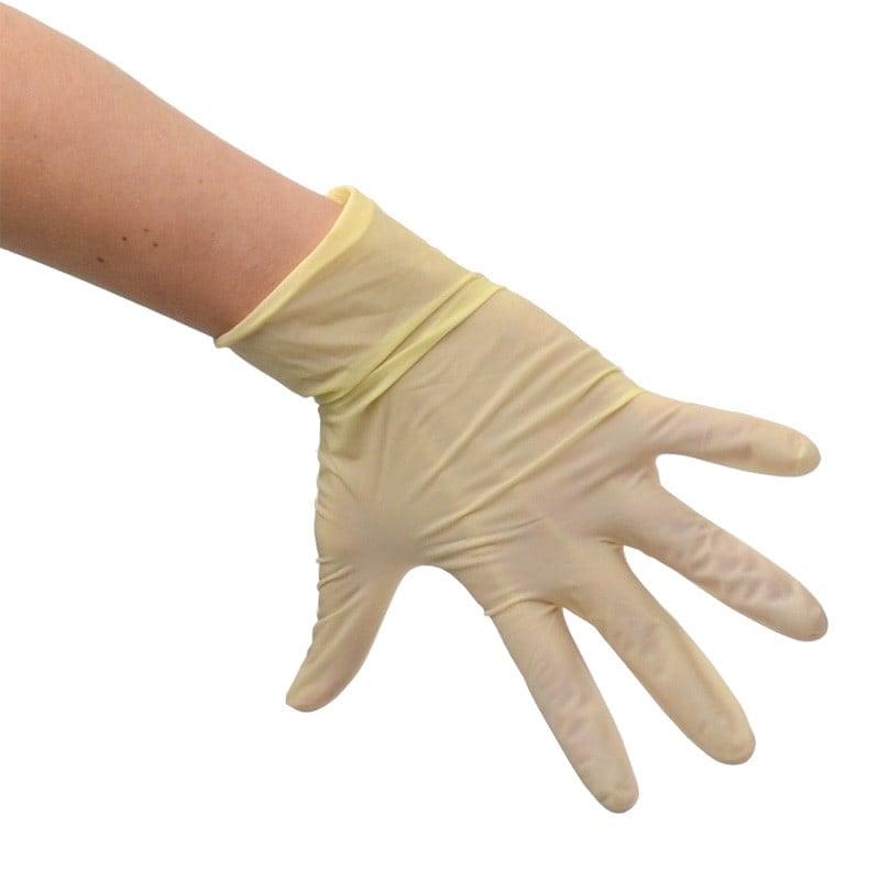 Bezlateksowe rękawiczki z rolowanym brzegiem, teksturowane opuszki palców