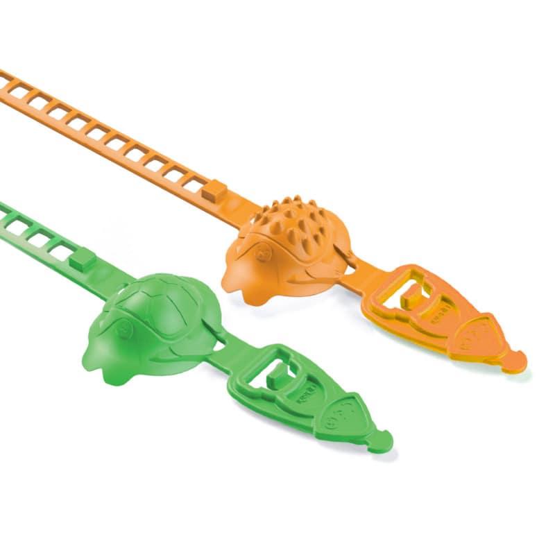 Erhältlich im Design Igel (orange) oder Schildkröte (grün)