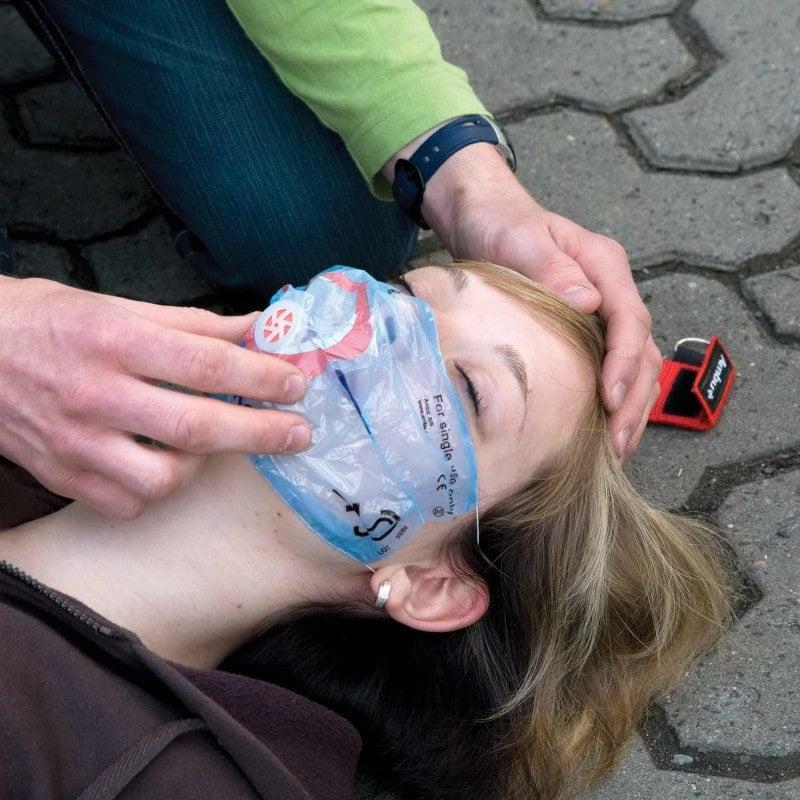 Für Mund-zu-Mund und Mund-zu-Nase-Beatmung