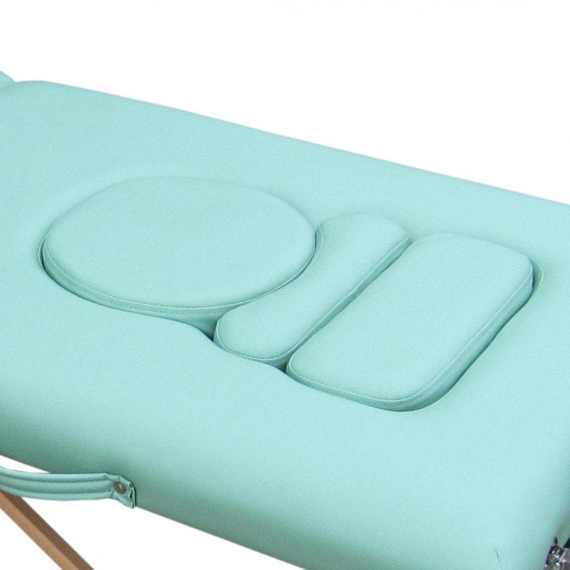 Entnehmbare Polsterteile im Bauch- und Brustbereich