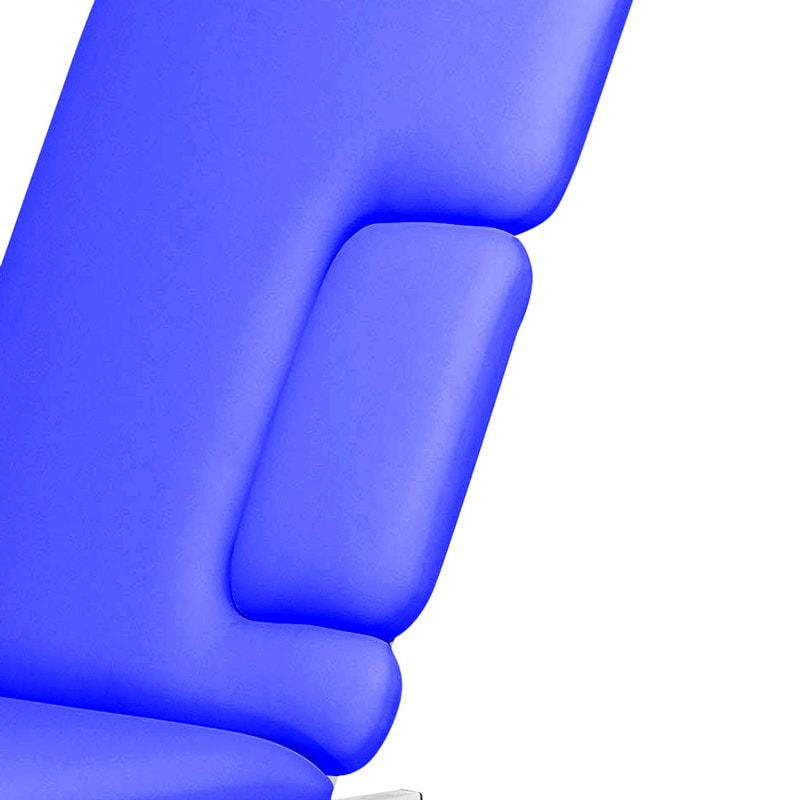 Features removable upholstery section at chest level to ease various examinations