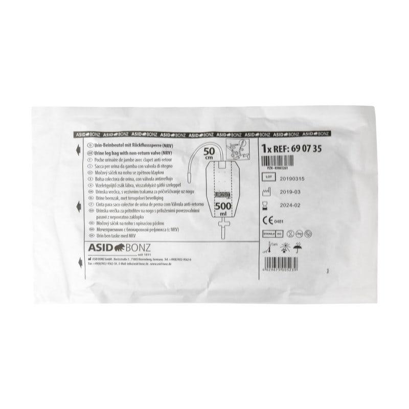 Der Urinbeutel wird steril verpackt geliefert