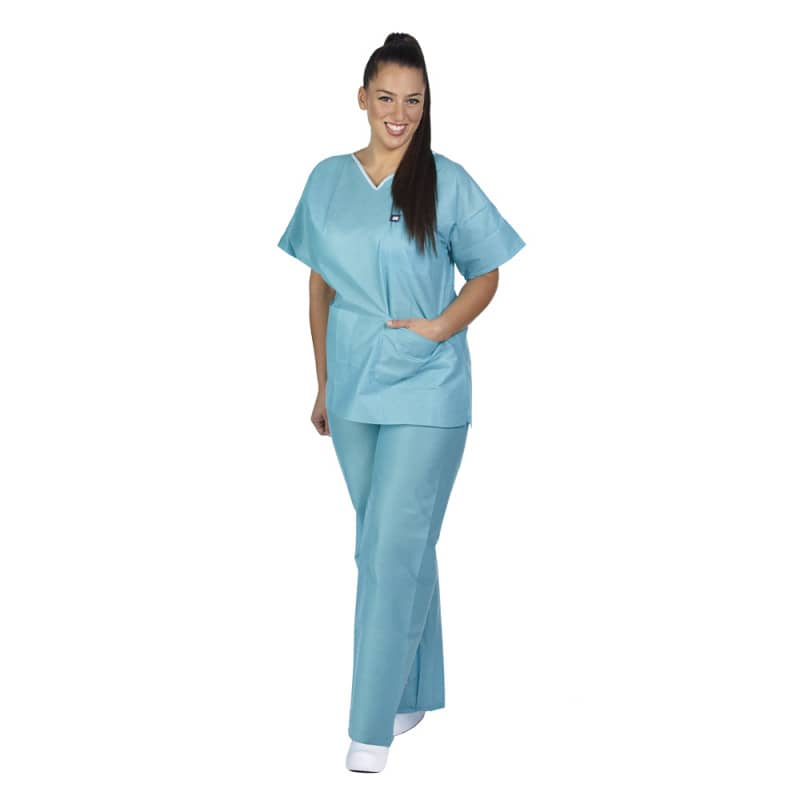 Low linting scrubs, green