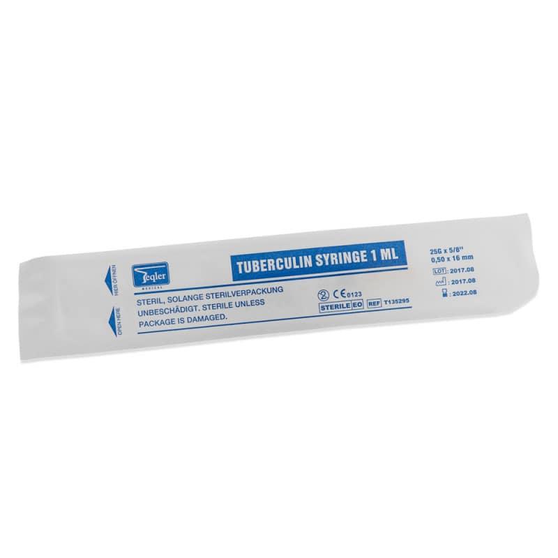 Die Tuberkulinspritzen werden einzeln steril verpackt geliefert