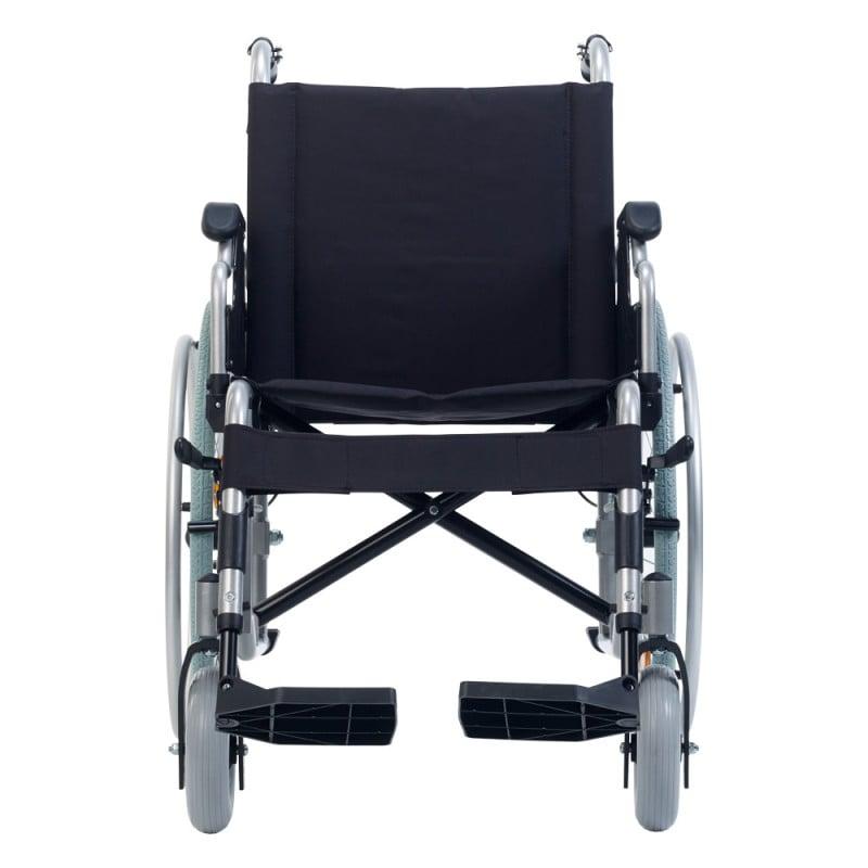 Sitz- und Rückenfläche sind gepolstert und mit einem robusten Bezug ausgestattet