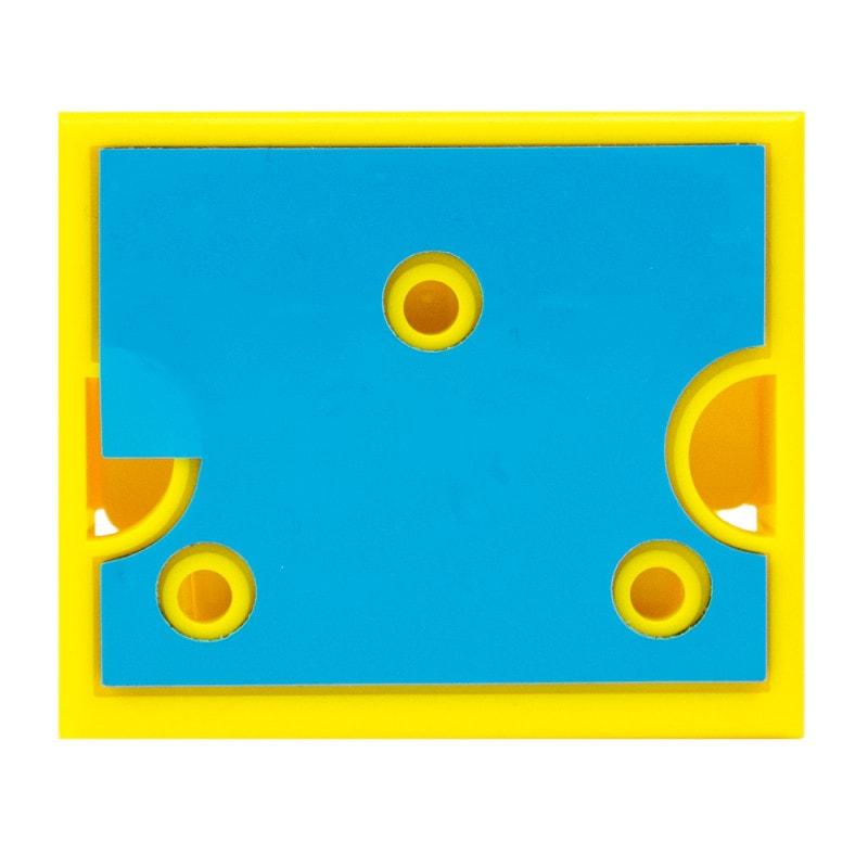 Geeignet zur Wand- oder Tischbefestigung mittels Klebestreifen oder Schrauben