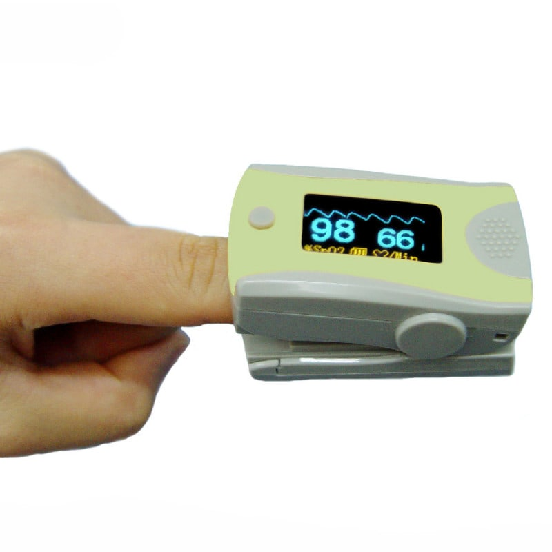 Measurement taken directly on the finger tip | Dim.: 5.7 x 3.3 x 3.0 cm (L x W x H)