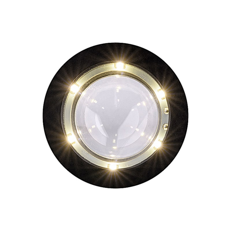 LED ring consisting of 6 bulbs provides sharp-edge homogenous light