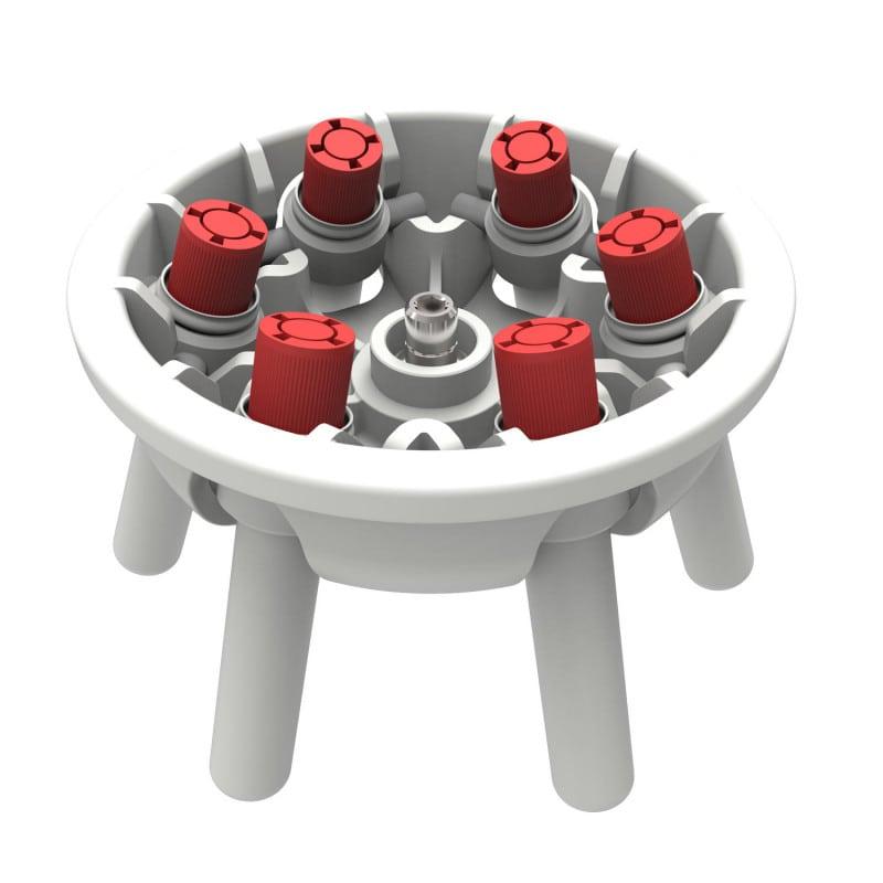 Opcionalmente con rotor oscilante de 6 posiciones, o rotor de ángulo fijo de 8 ó 16 posiciones