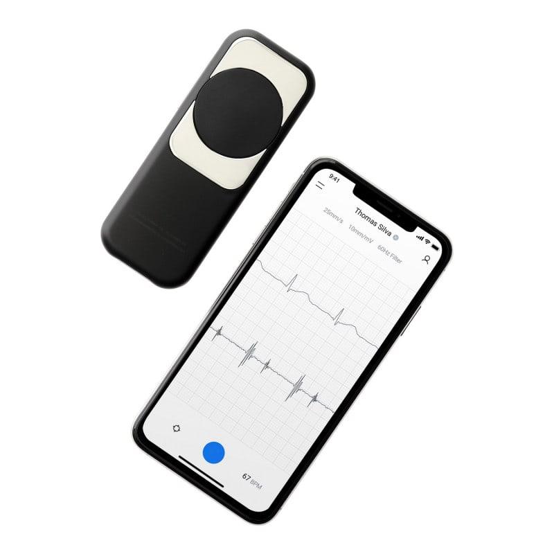 Harttonen en ECG's kunnen draadloos worden overgedragen en gevisualiseerd op een mobiele telefoon