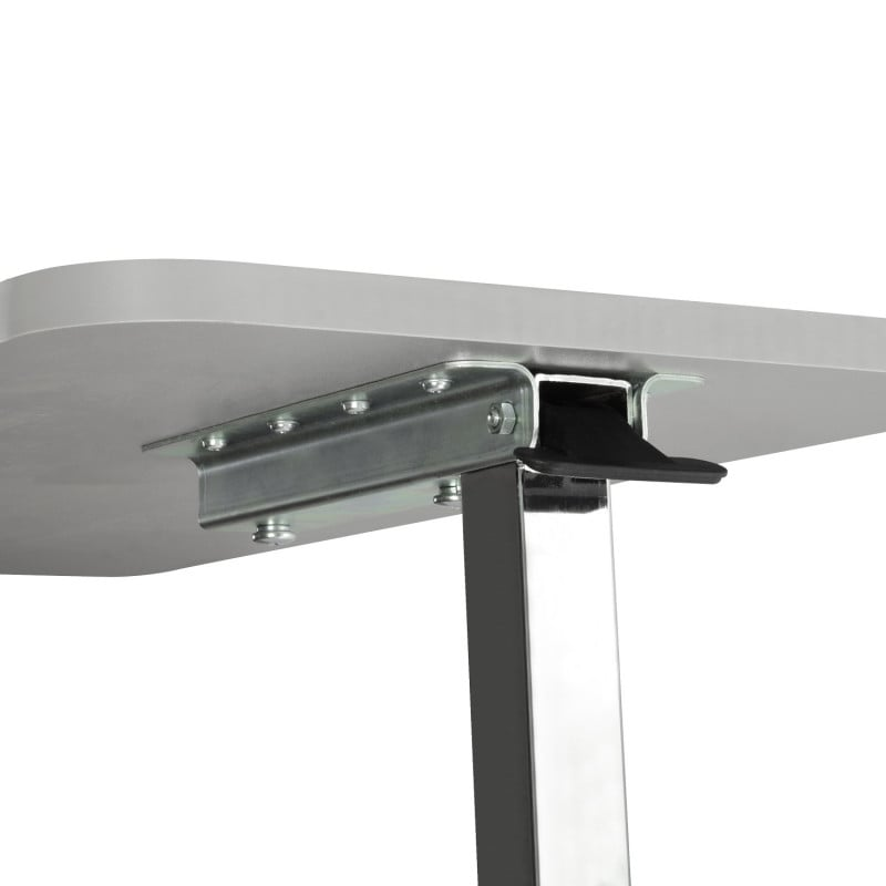Table height can be adjusted with help of a lever
