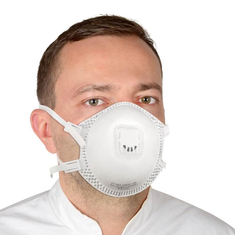 Le filtre FFP3 offre une protection idéale contre la poussière, les bactéries et les virus