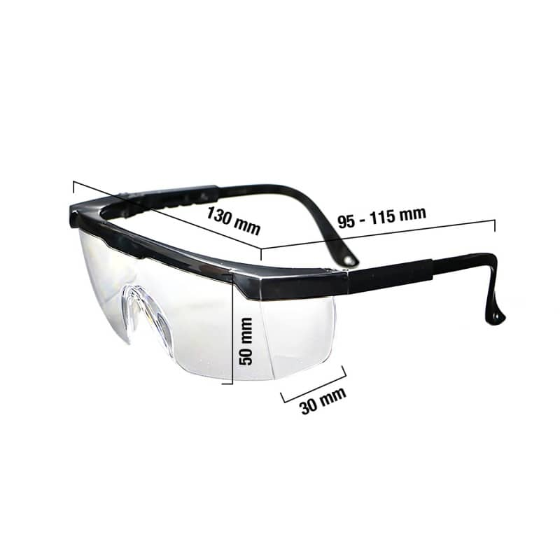 Comfortable glasses with large field of vision