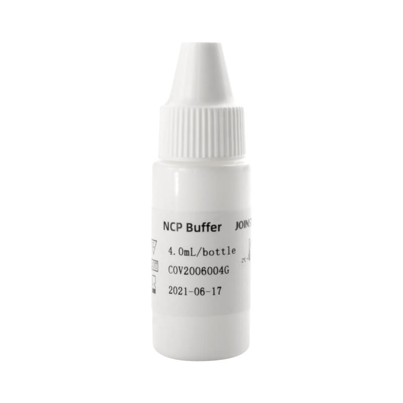 With buffer solution