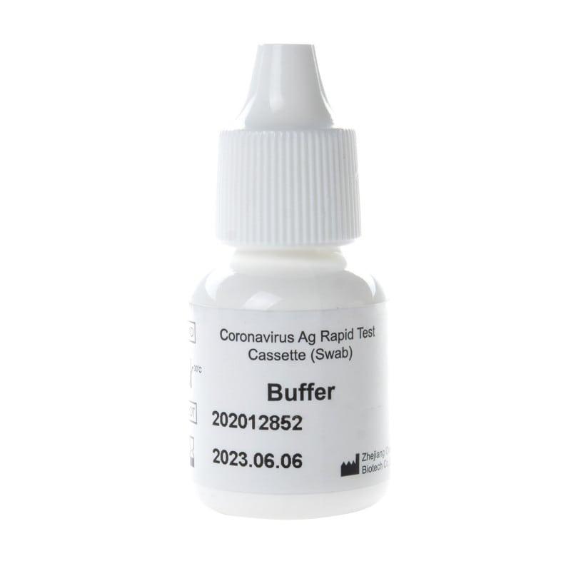 Incluye 2 botellas de tampón de extracción para el llenado de los tubos de muestra