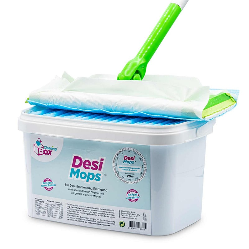 Can be used with all floor mopping systems with clamp system (e.g. Swiffer)
