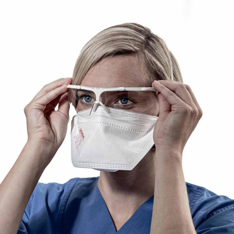 Alta compatibilità con gli occhiali di sicurezza uvex