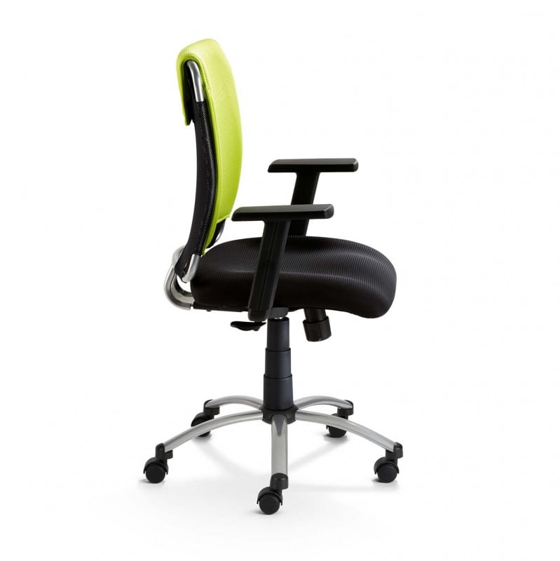 With height-adjustable armrests