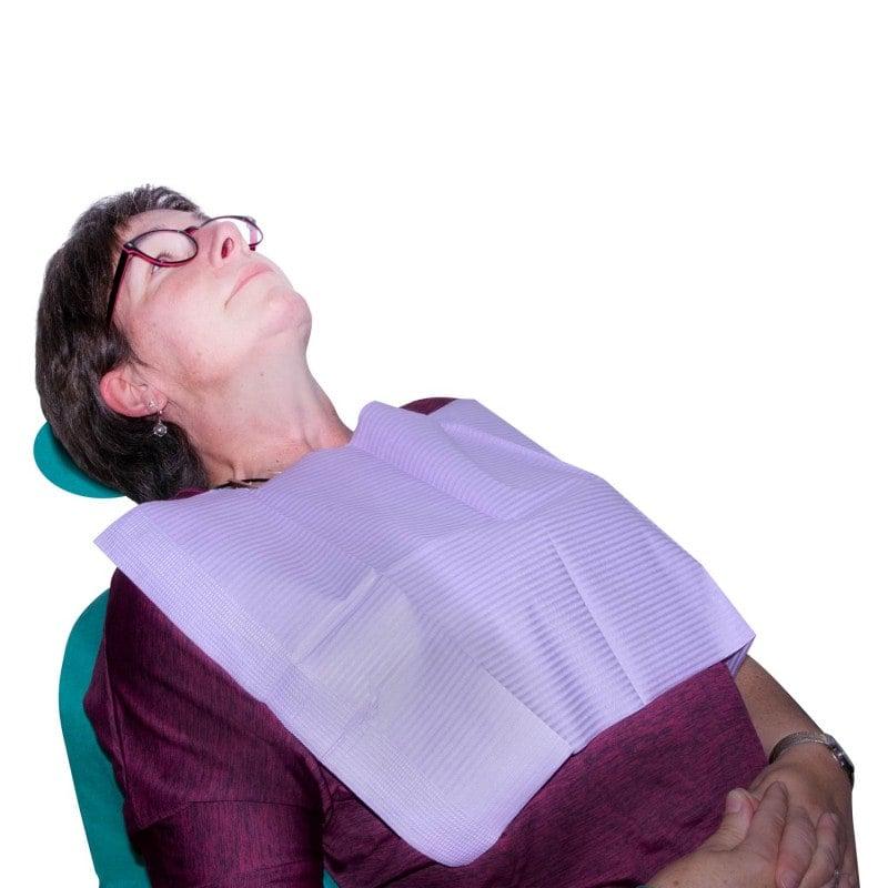Zum Schutz der Patientenkleidung
