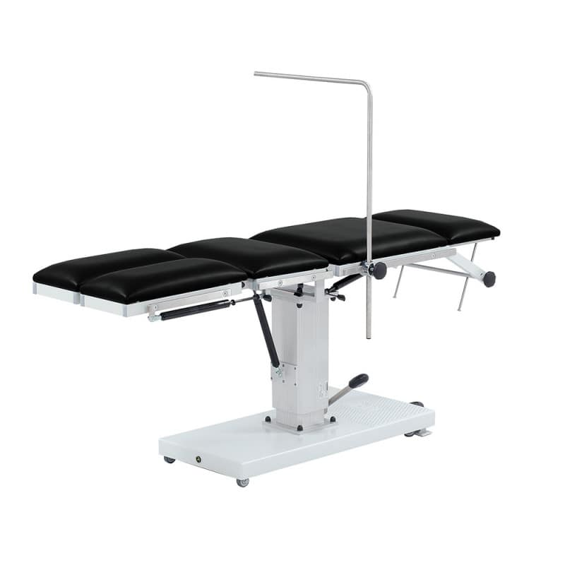 Rails can be used to attach armrests or anaesthesia arms