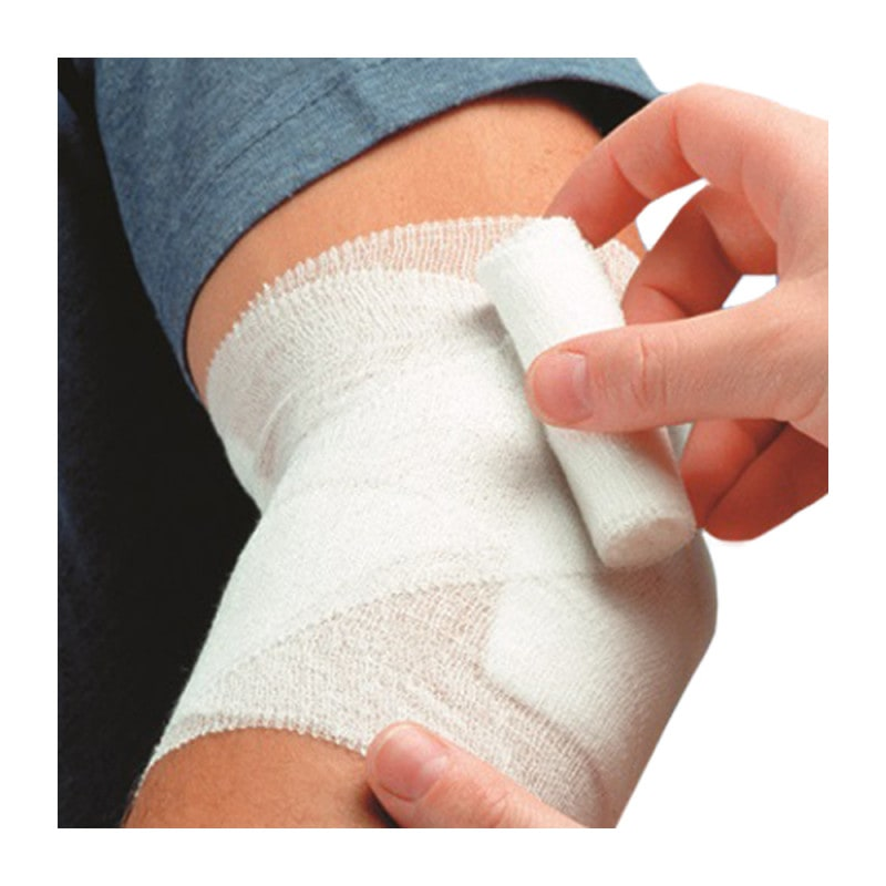 Die Mullbinden behindern weder Blutzirkulation noch Gelenkbewegungen
